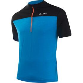 Löffler Merino Half-Zip Bike Shirt Men brillant blue